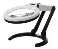 Лупа настольная 2x/5x-120мм складная с подсветкой (10 LED) Kromatech MG3B-1C для чтения и рукоделия