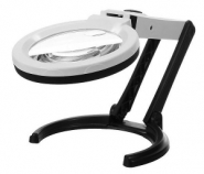 Лупа настольная 2.5x/8x-90мм складная с подсветкой (10 LED) Kromatech MG3B-1B для чтения и рукоделия