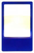 Лупа карманная линза Френеля гибкая (кредитка вертикальная 85х54 мм) для чтения Kromatech