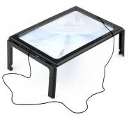Лупа настольная линза Френеля на ножках (столик) 3х для чтения и рукоделия Kromatech