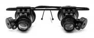 Лупа налобная 20x бинокулярная (очки) с подсветкой (2 LED) Kromatech MG9892A-II
