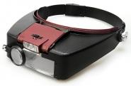 Лупа налобная 1.5/3.0/8.5/10.0x с подсветкой (2 LED) Kromatech MG81007-A