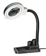 Лупа лампа бестеневая настольная 2x/20x-85мм с подсветкой (40 LED) для чтения и рукоделия с подставкой для ручек Kromatech