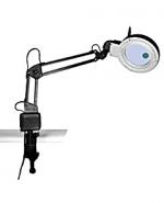Лупа лампа бестеневая настольная 2x/20x-85мм с подсветкой (40 LED) для чтения и рукоделия на струбцине Kromatech