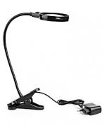 Лупа настольная 6x-75мм на прищепке с подсветкой (12 LED) Kromatech ZB667-75 для чтения и рукоделия