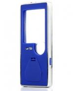 Лупа карманная 3/10x для чтения с подсветкой + ультрафиолет (5 LED, синяя) Kromatech TH-7007