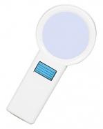 Лупа ручная круглая 10x-70мм для чтения с подсветкой (10 LED) Kromatech TH-7015