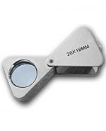 Лупа ювелирная 20х-18мм треугольная Kromatech MG23196A