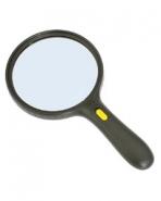 Лупа ручная круглая 2.5х-75мм для чтения с подсветкой (3 LED, черная) Kromatech MG-9986-B