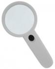 Лупа ручная круглая 3х-75мм для чтения с подсветкой (2 LED, белая) Kromatech MG6B-5