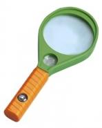 Лупа ручная круглая 4x/6х-65мм для чтения (ракетка с компасом) Kromatech MG89075