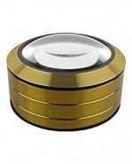 Лупа настольная контактная 5x-90мм золотистая без ручки
