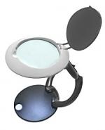 Лупа настольная 4.5x-56мм складная с подсветкой (3 LED) для чтения и рукоделия Kromatech G666-060