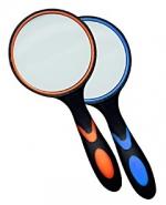 Лупа ручная круглая 10х-50мм для чтения (резиновая двуцветная ручка) Kromatech