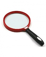 Лупа ручная круглая 3х-140мм для чтения (черно-красная) Kromatech