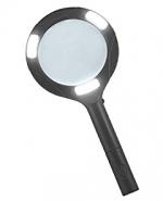 Лупа ручная круглая 3х-80мм для чтения с подсветкой (3W COB LED) Kromatech