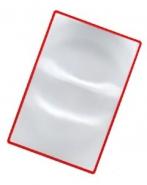 Лупа карманная линза Френеля гибкая 3х (120х180 мм) для чтения Kromatech
