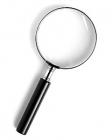 Лупа ручная круглая 2,5х-127мм для чтения в металлической оправе Kromatech