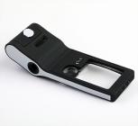 Лупа карманная 3/10/55x для чтения с микроскопом и подсветкой (6 LED, черная) Kromatech TH-515