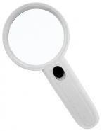 Лупа ручная круглая 4х-65мм для чтения с подсветкой (2 LED, белая) Kromatech MG6B-4